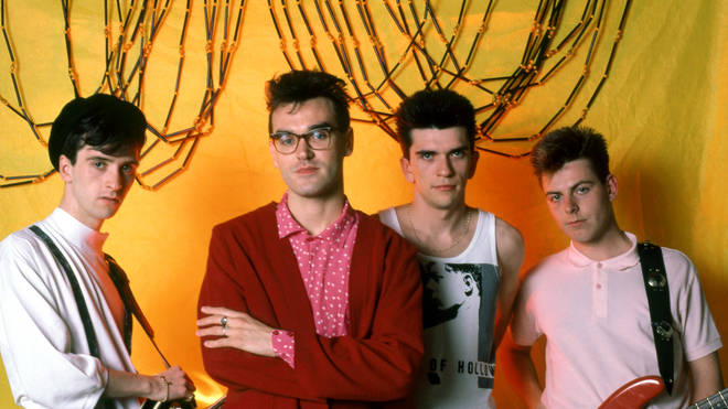 The Smiths in June 1985: Johnny Marr, Morrissey, Mike Joyce and Andy Rourke