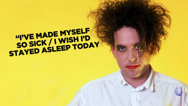 Robert Smith and a mystery Cure lyric