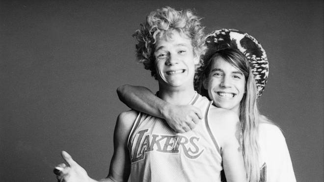 Red Hot Chili Peppers' Flea and Anthony Kiedis in 1986
