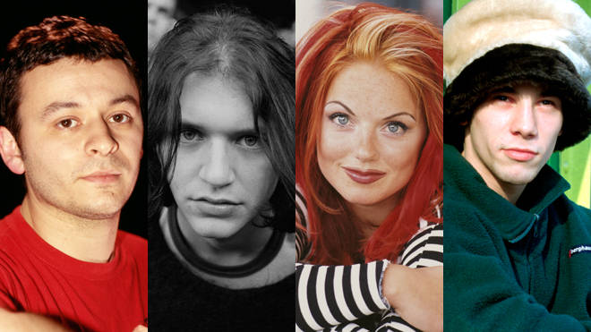 James Dean Bradfield, Brian Molko, Geri Halliwell and Jay Kay