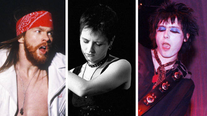 Guns N' Roses' Axl Rose, The Cranberries' Dolores O'Riordan and Manic Street Preachers' Nicky Wire