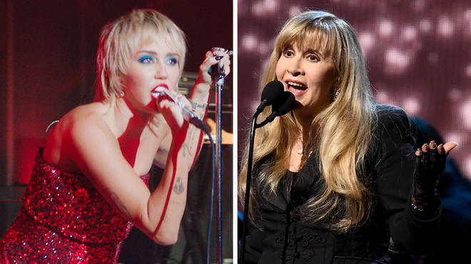 Miley Cyrus and Fleetwood Mac singer Stevie Nicks have released a mashup