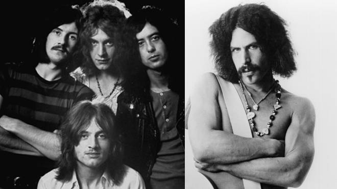 Led Zeppelin and their guitar riff nemesis Randy California of Spirit