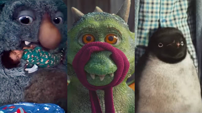 Moz The Monster, Excitable Edgar and Monty The Penguin - classic characters from John Lewis Christmas ads of yesteryear