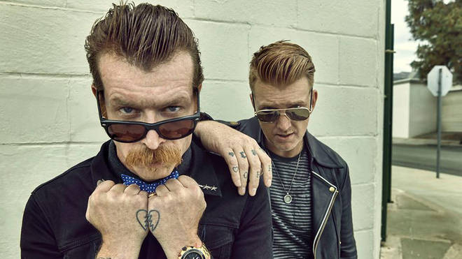 Eagles of Death Metal's Jesse Hughes and Josh Homme
