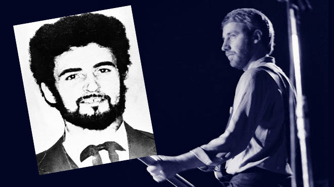 Peter Hook on stage with Joy Division and a file photo of Peter Sutcliffe, the Yorkshire Ripper