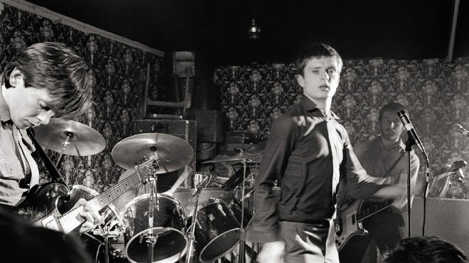 Joy Division performing live onstage at Bowdon Vale Youth Club, March 1979