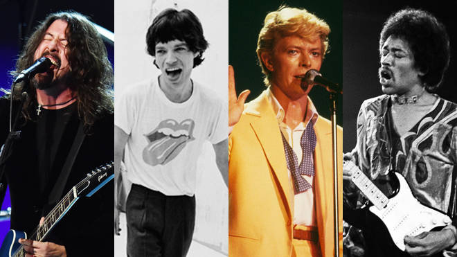 Dave Grohl, Mick Jagger, David Bowie and Jimi Hendrix