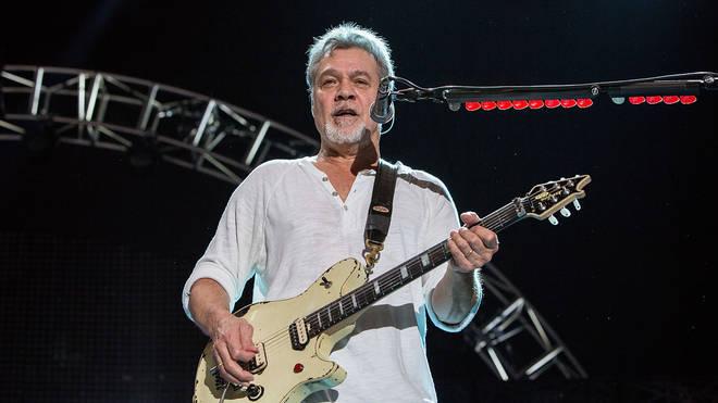 Eddie Van Halen on stage in California