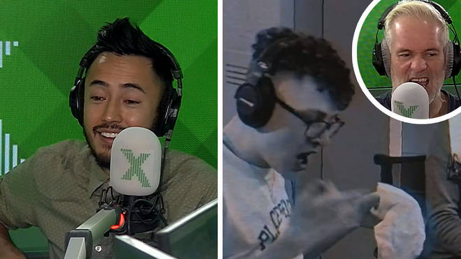 Matt and Sam trash talk ahead of their chicken wing rematch on The Chris Moyles Show