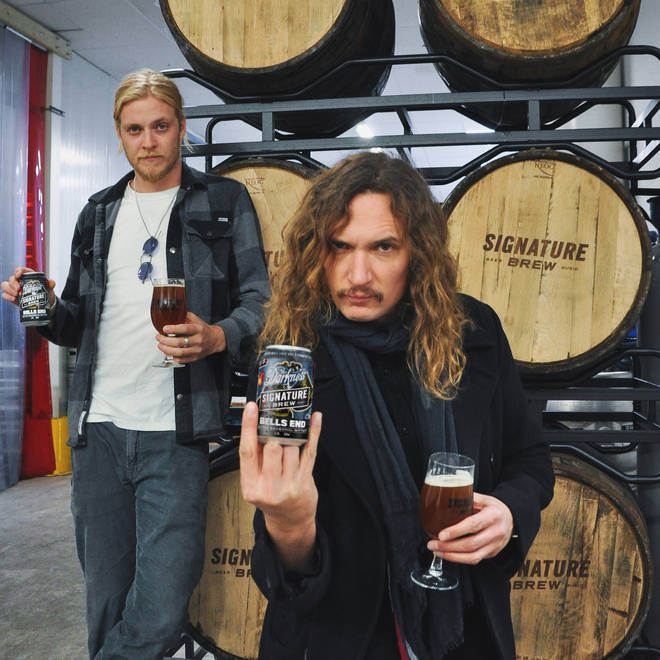 The Darkness launch beer collab Bells End with signature brew