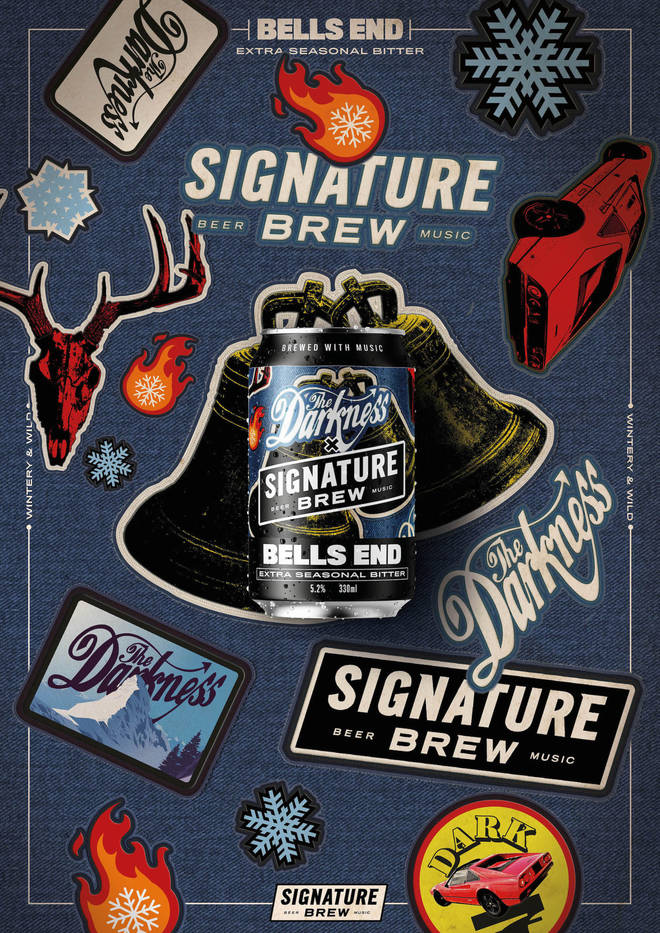 The Darkness and Signature Brew's collab Bells End beer