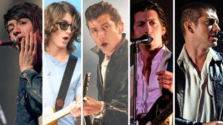 Alex Turner of Arctic Monkeys throughout the years