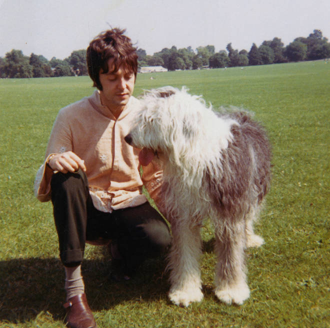 Paul McCartney and Martha in the summer of 1967