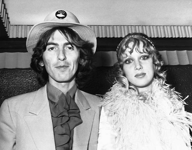 George Harrison and wife Patti at the premiere of Yellow Submarine in July 1968