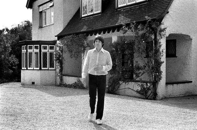 Beatles singer Paul McCartney relaxing in the grounds of his father's home in Gayton in the Wirral, Cheshire, July 1968