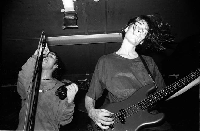 How to do it: Alex James playing bass with Blur back in 1990