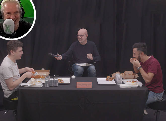 Sam and Matt have their chicken wings challenge rematch on The Chris Moyles Show