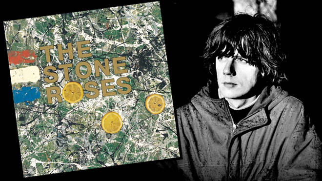 John Squire and the cover of The Stone Roses' debut album