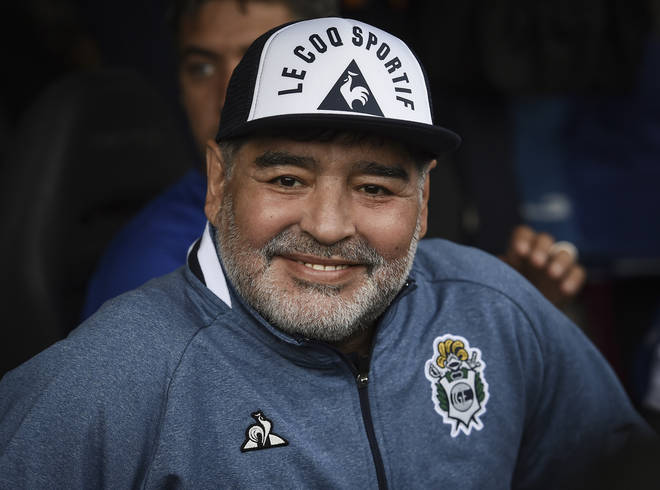 Diego Maradona in November 2019