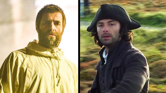 Liam Gallagher and Aidan Turner as Poldark