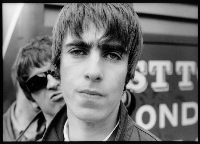 Liam and Noel Gallagher of Oasis in 1994