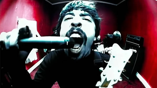 Dave Grohl in the Monkey Wrench video