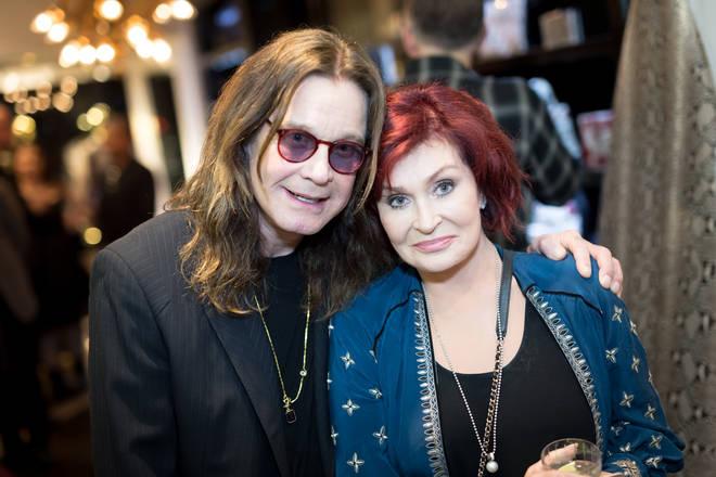 Ozzy Osbourne and Sharon Osbourne attend the Billy Morrison - Aude Somnia Solo Exhibition at Elisabeth Weinstock on September 28, 2017