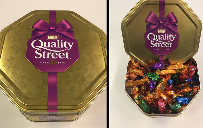 Quality Street tinned chocolates 2018