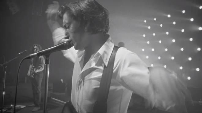Alex Turner sings in Arctic Monkeys' performance of Arabella