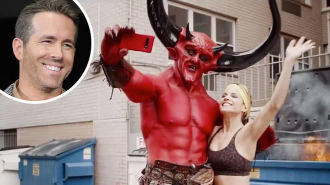 Ryan Reynolds shares match.com ad where devil falls in love with 2020 to Taylor Swift's Love Story