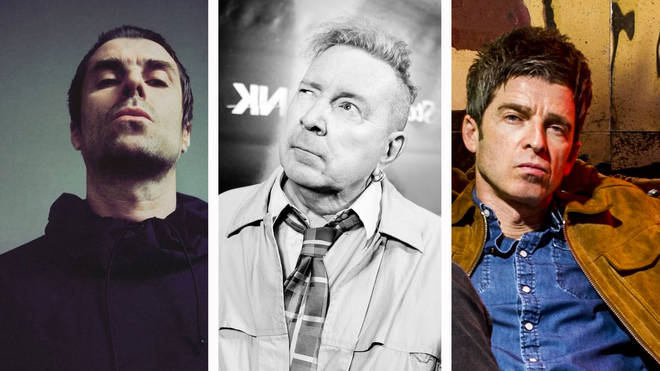 Liam Gallagher, John Lydon and Noel Gallagher