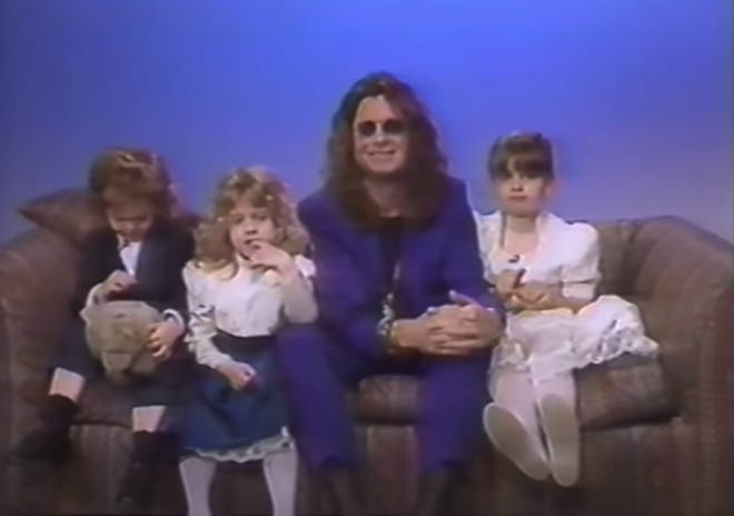 Ozzy Obsourne and his kids being interviewed by Joan Rivers in 1991