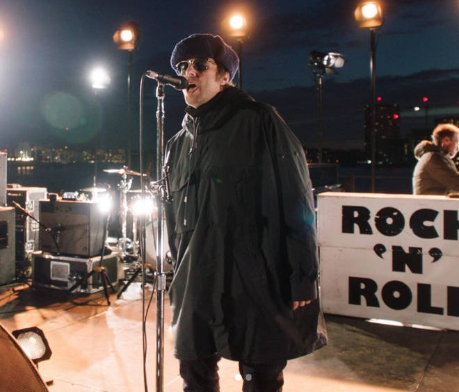 Liam Gallagher performs on Down By The River Thames