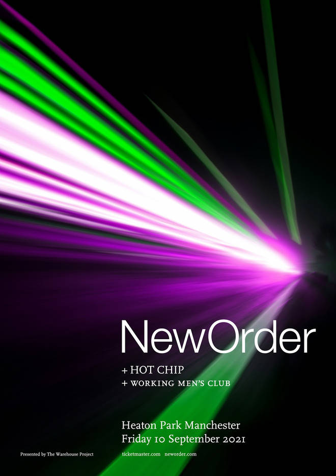 New Order at Heaton Park 2021 poster