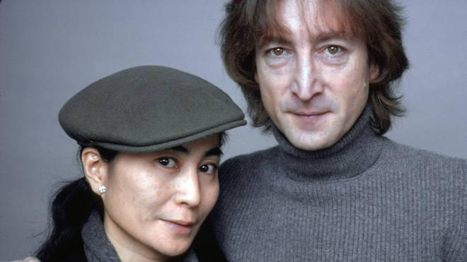 John Lennon and Yoko Ono on 2 November 1980