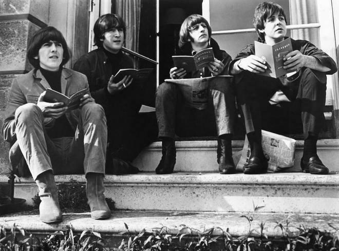 The Beatles in their 1965 heyday: George Harrison, JohnLennon, Ringo Starr and Paul McCartney