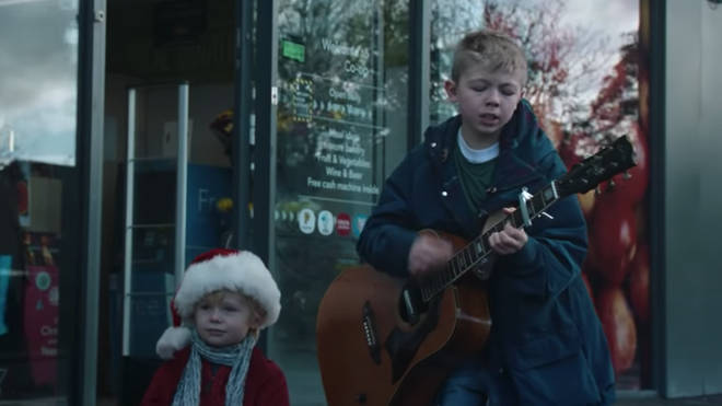 Child actors perform Oasis track Round Are Way in Co-op Christmas advert