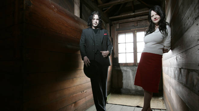 Jack and Meg White of the White Stripes in Detroit, Michigan, April 2005.