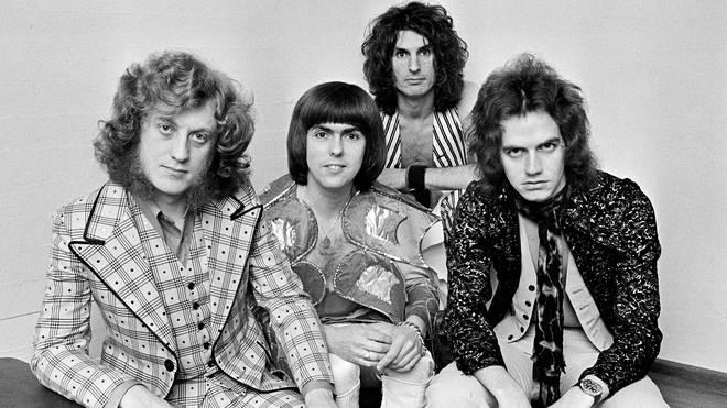 Slade in 1974: Noddy Holder, Dave Hill, Don Powell, Jim Lea