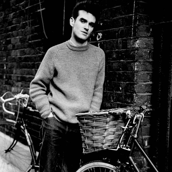 Morrissey hanging around a ginnel (alleyway) in 1984