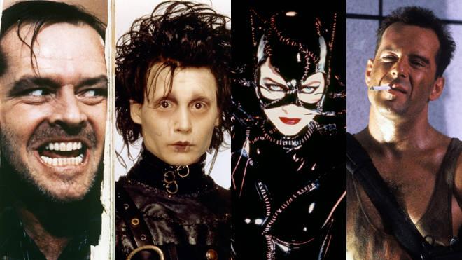 The Shiining, Edward Scissorhands, Batman Returns and Die Hard