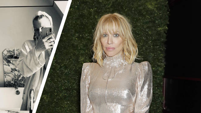 Courtney Love bares flesh in risqué bathroom selfie from London