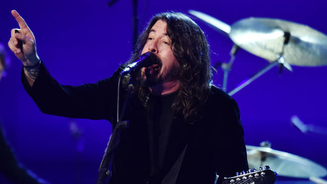 Foo Fighters' Dave Grohl at the Let's Go Crazy GRAMMY salute to Prince