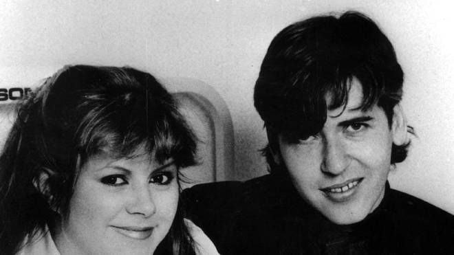Kirsty MacColl and her record producer husband Steve Lilywhite in 1985