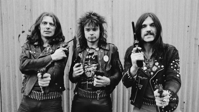 Motorhead in 1978: 'Fast' Eddie Clarke, Phil 'Philthy Animal' Taylor and Lemmy