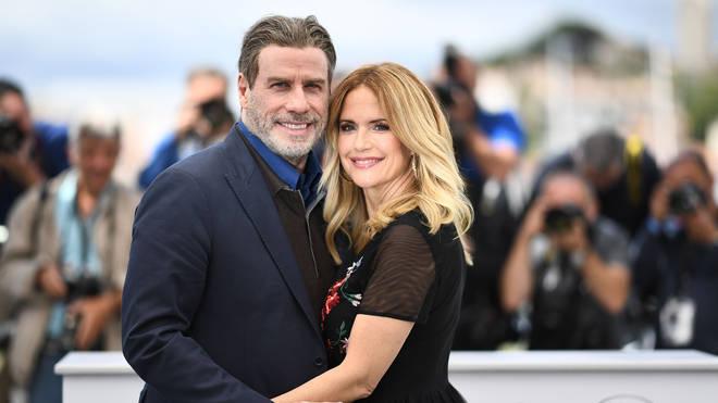 Kelly Preston and John Travolta at the Cannes film festival in 2018
