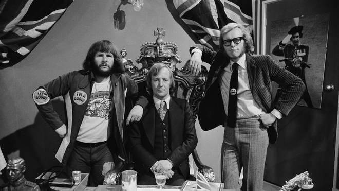 The Goodies in 1972: Bill Oddie, Tim Brooke-Taylor and Graeme Garden