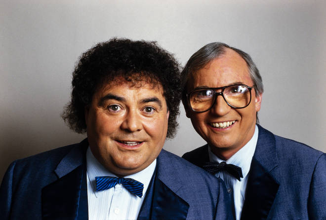 Eddie Large and Syd Little in 1987