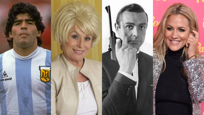 Some of the stars we lost this year: Diego Maradona, Barbara Windsor, Sir Sean Connery and Caroline Flack